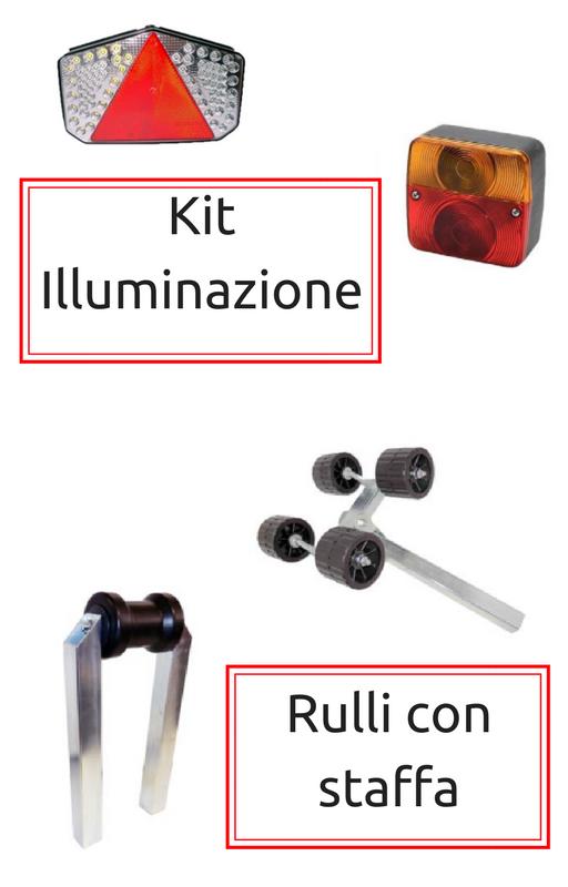 kit illuminazione e rulli